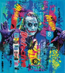 Why So Serious by Zinsky - Glazed Paper on Board sized 28x31 inches. Available from Whitewall Galleries