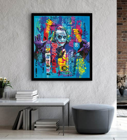 Why So Serious by Zinsky - Glazed Paper on Board wall setting